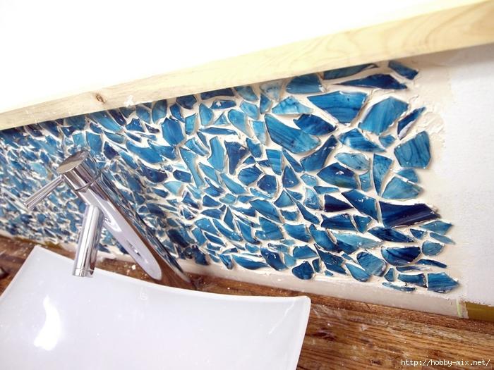 Installing a Mason Jar Mosaic Backsplash {Sawdust and Embryos}[4] (700x525, 294Kb)