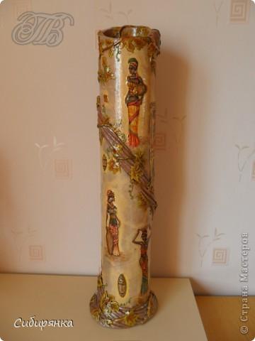 Напольные вазы из шпулек от линолеума (21) (360x480, 100Kb)