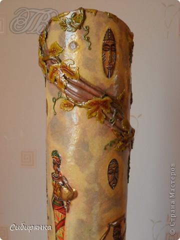 Напольные вазы из шпулек от линолеума (25) (360x480, 125Kb)