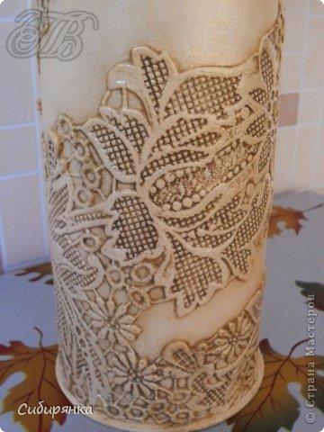 Напольные вазы из шпулек от линолеума (37) (360x480, 141Kb)