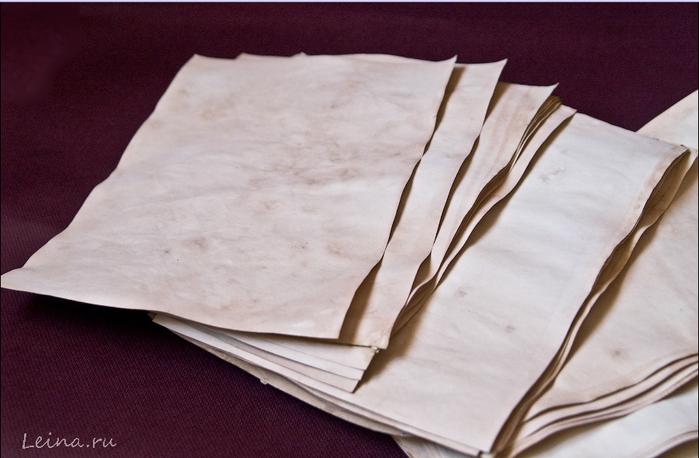 Как своими руками состарить бумагу