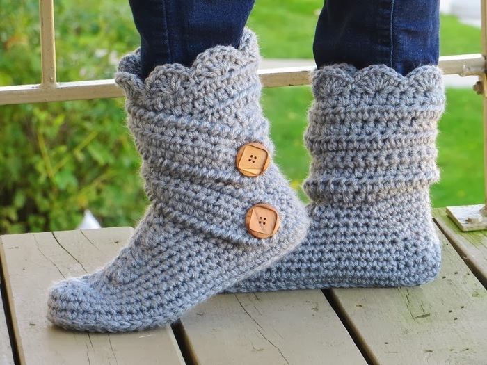 Boots Slipper Crochet Pattern (700x525, 144Kb)