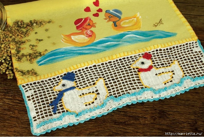Обвязка крючком скатерти и детского кухонного полотенца (6) (662x444, 256Kb)