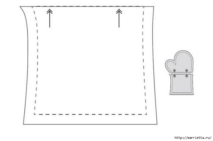 Шьем прихватку варежку. Выкройка (4) (700x463, 47Kb)