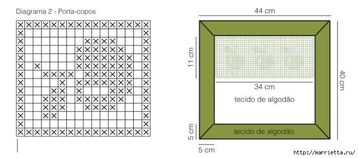atar servilletas de ganchillo.  patrón con las manzanas (2) (700x309, 108Kb)