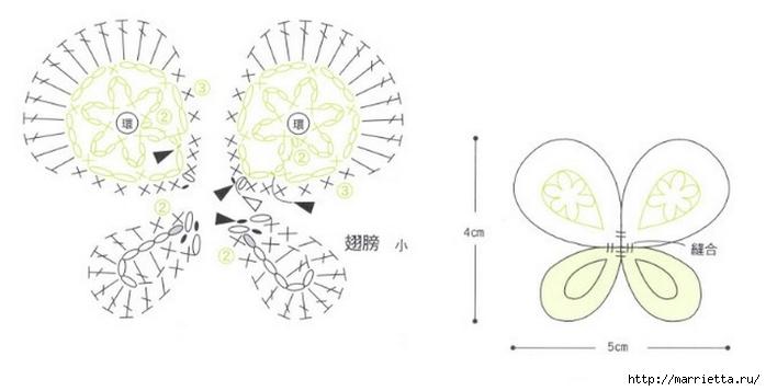 Вязаные крючком фрагменты для украшения тапочек (3) (700x357, 95Kb)