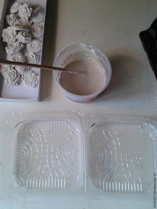 Baldosas de yeso chimenea ajuste floral hecho en casa (3) (524x700, 248Kb)