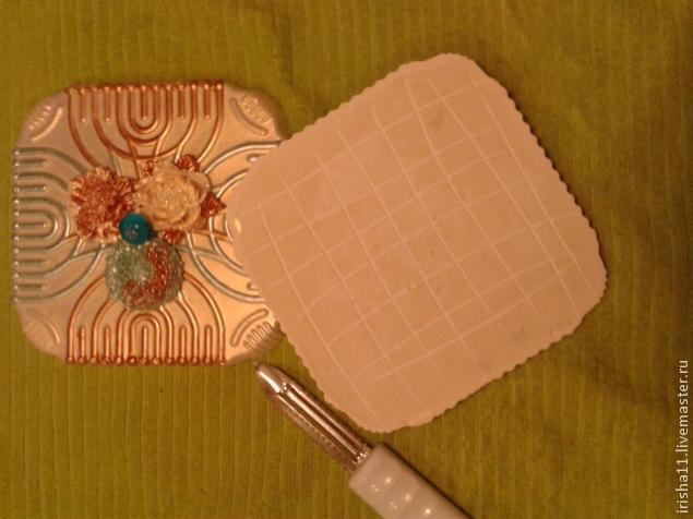 Baldosas de yeso chimenea ajuste floral hecho en casa (8) (635x476, 171Kb)