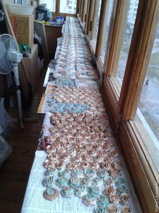 Baldosas de yeso chimenea ajuste floral hecho en casa (12) (524x700, 423Kb)