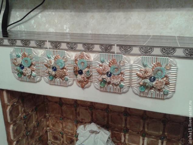 Baldosas de yeso chimenea ajuste floral hecho en casa (16) (635x476, 192Kb)