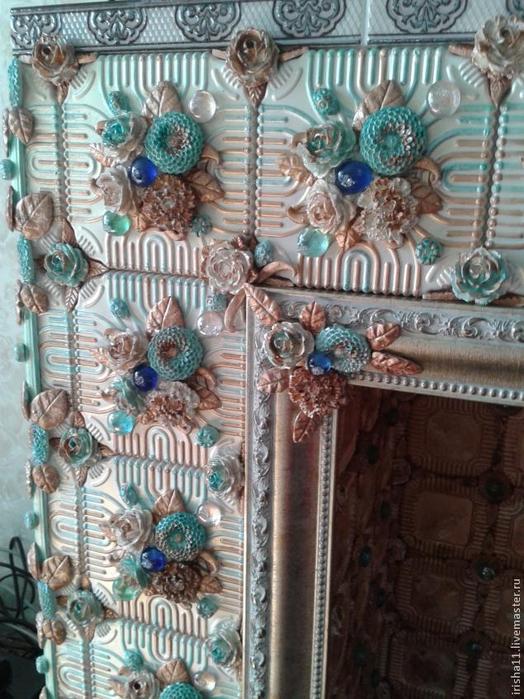 Baldosas de yeso chimenea ajuste floral hecho en casa (21) (524x700, 430Kb)