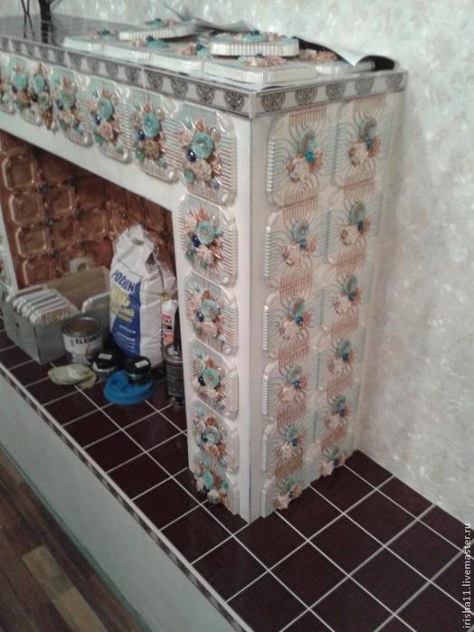 Baldosas de yeso chimenea ajuste floral hecho en casa (23) (524x700, 315kb)