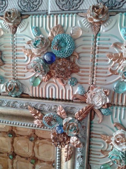 Baldosas de yeso chimenea ajuste floral hecho en casa (25) (524x700, 424KB)