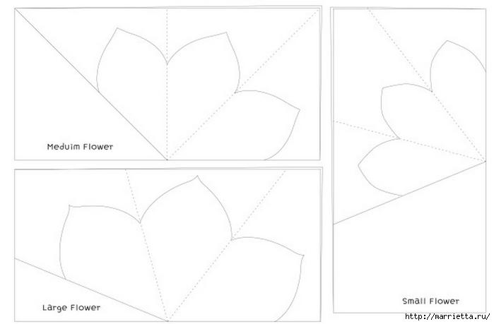 Нежные цветочки из бумаги. Шаблон (7) (700x459, 68Kb)