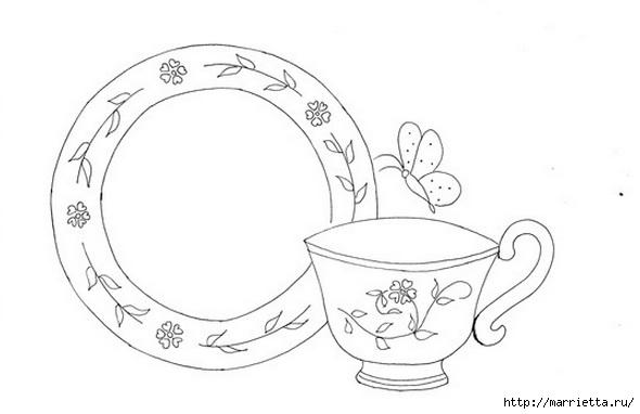 Скатерть с вышивкой и аппликацией чайного сервиза (2) (590x382, 65Kb)