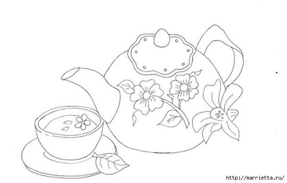 Скатерть с вышивкой и аппликацией чайного сервиза (8) (593x377, 63Kb)