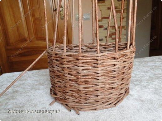 Красивая загибка для плетенок из газетных трубочек. Мастер-класс (1) (520x390, 175Kb)
