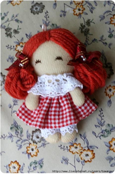 Маленькая куколка своими руками