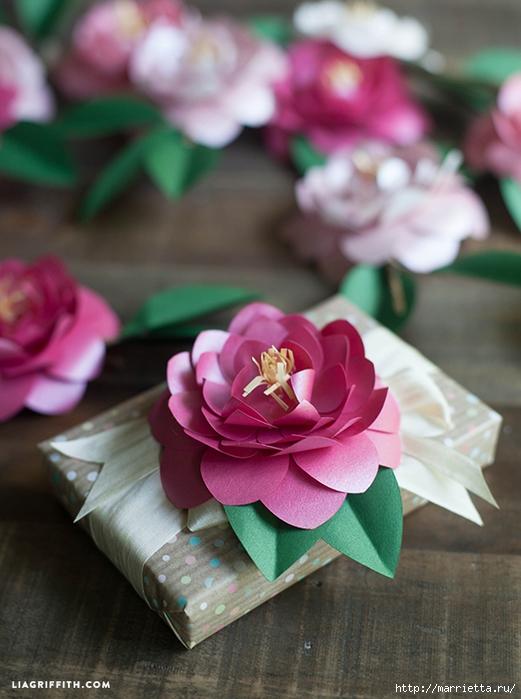 КАМЕЛИЯ. Цветы из бумаги (7) (521x700, 245Kb)