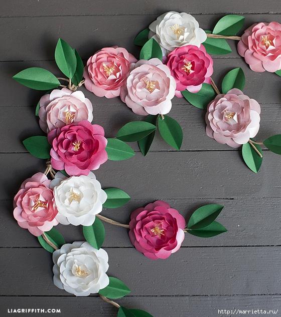 КАМЕЛИЯ. Цветы из бумаги (9) (560x633, 320Kb)