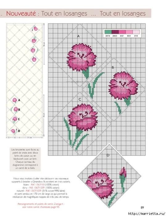 Схемы вышивки крестом для холщовой сумки 52