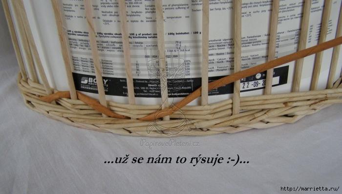 Мастер-класс плетения корзинки и кручения трубочек из газет (10) (700x396, 212Kb)