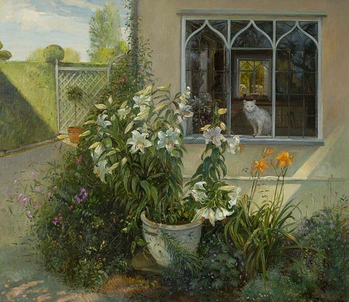 77417837_large_2382183_Timothy_Easton_The_Chinese_Pot_of_Lilies (700x605, 478Kb)