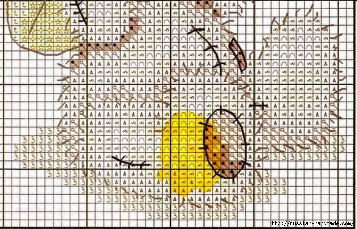 Плюшевый мишка. Схемы вышивки крестиком (2) (700x450, 343Kb)
