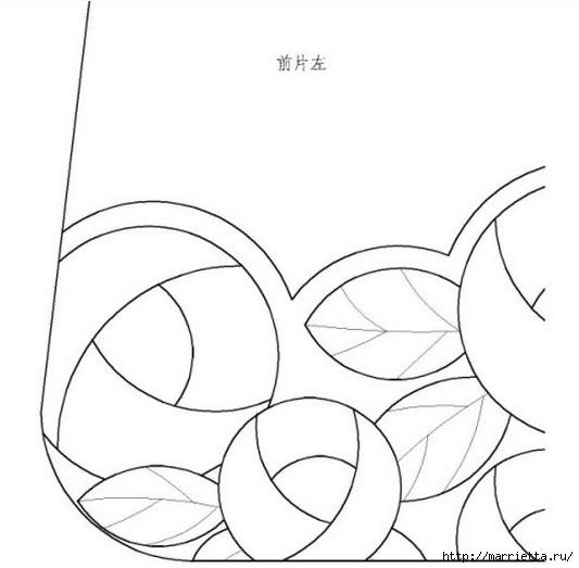 Пэчворк. Сумочка и косметичка с розочками (5) (533x523, 78Kb)