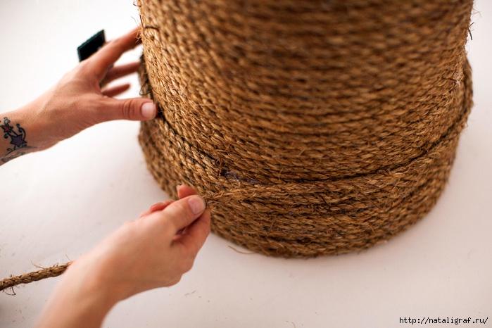 Как сделать пуфик из пластмассового ведра