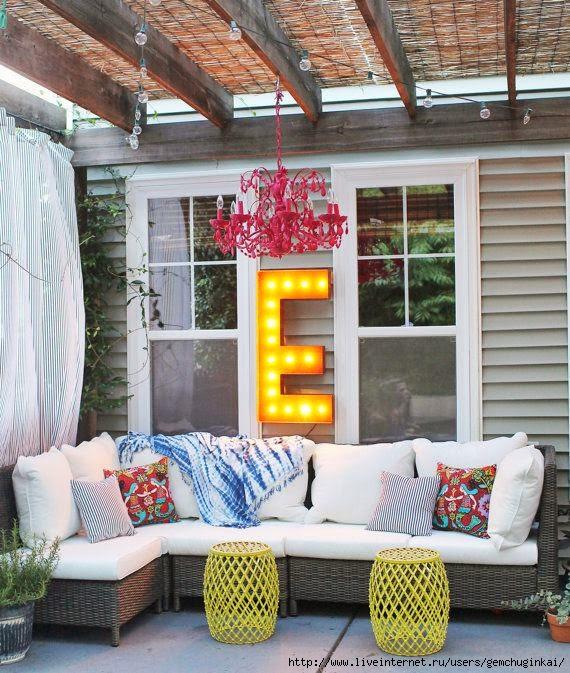 Outdoor Porch Backyard Idea (570x673, 266Kb)