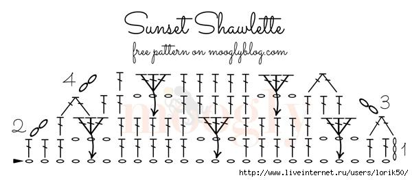 Sunset-Shawlette-Chart (600x263, 77Kb)