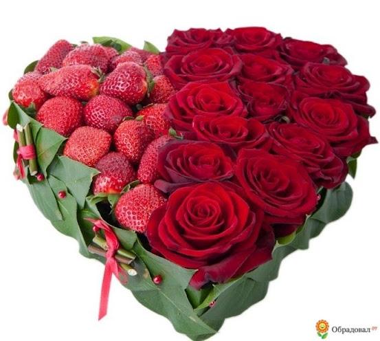сердце розы и клубника (553x496, 84Kb)