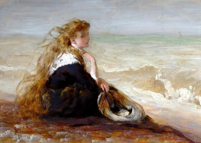 2382183_0_George_Elgar_Hicks_English_18241914__Girl_seated_by_shore__1878_ (700x499, 56Kb)