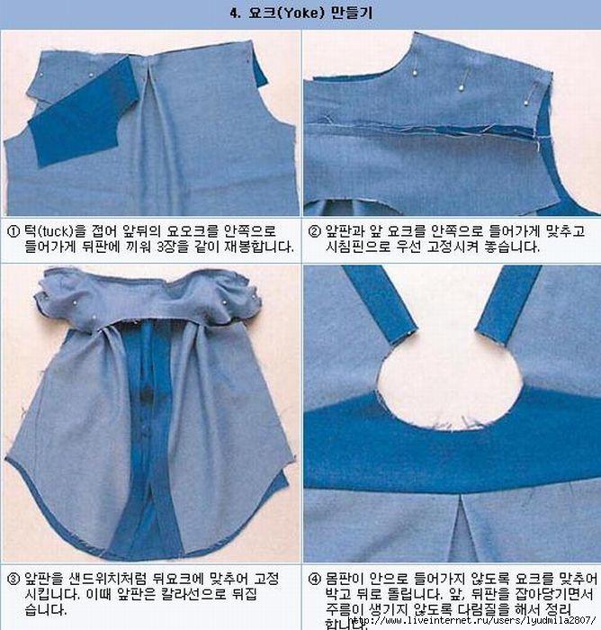 Как из джинс сшить рубашку 82
