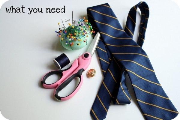 украшение-воротник из галстука1 (600x400, 106Kb)