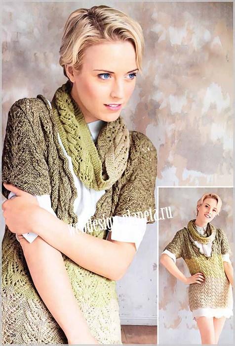zhenskij-pulover-s-azhurnym-uzorom-i-sharf-homut-foto (476x700, 106Kb)