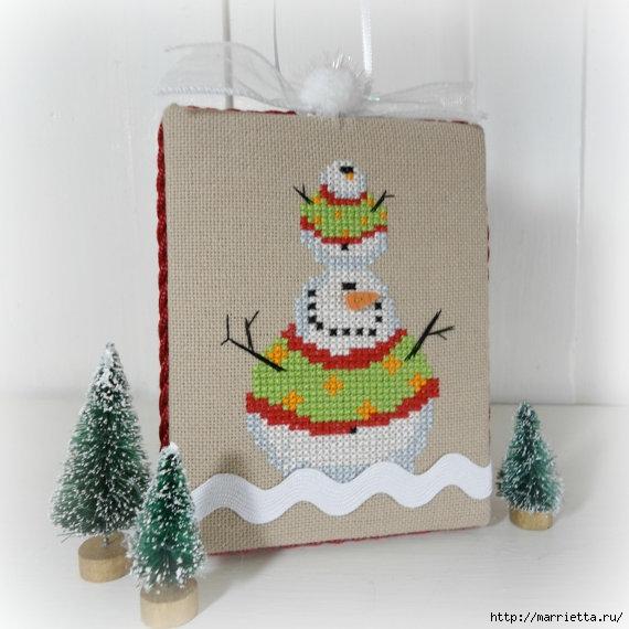 Подвески с вышивкой для новогодней елочки (1) (570x570, 158Kb)