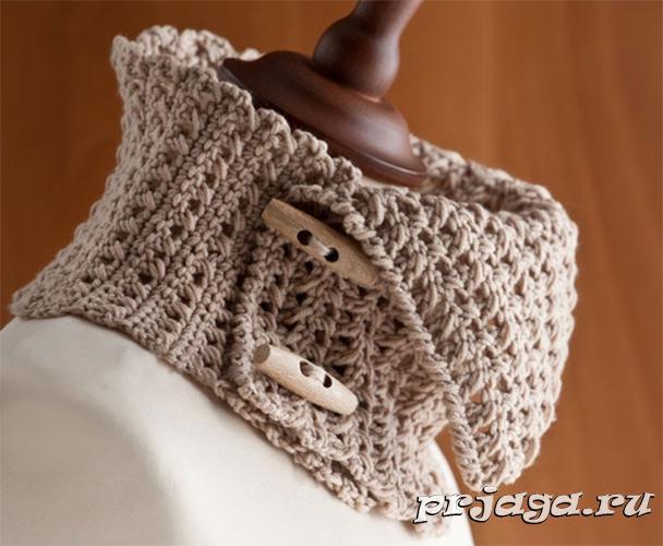 шарф-воротник крючком - Самое