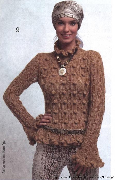 пуловер с шишечками1 (446x700, 261Kb)