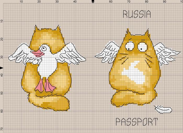Вышивка на паспорт царь схема