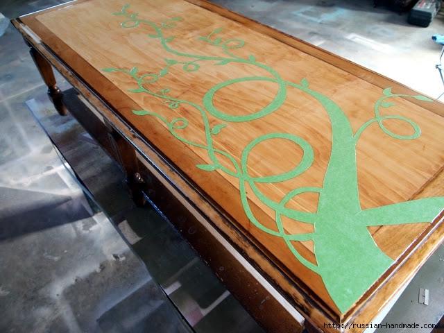 Декорируем сами мебель. Шикарное преображение журнального столика (3) (640x480, 210Kb)