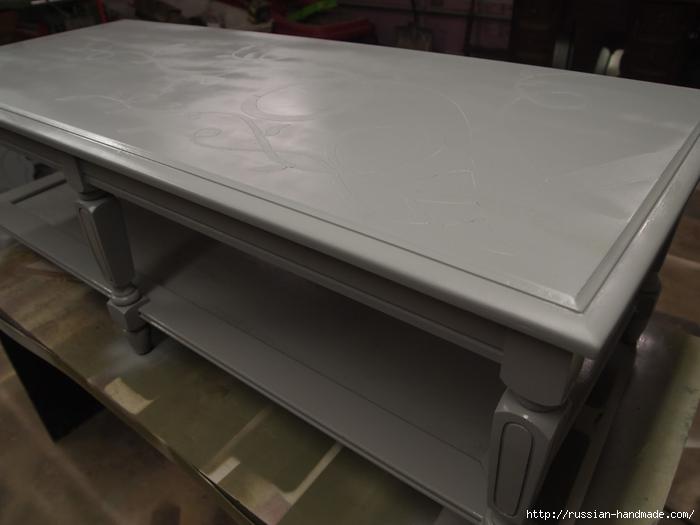 Декорируем сами мебель. Шикарное преображение журнального столика (5) (700x525, 156Kb)
