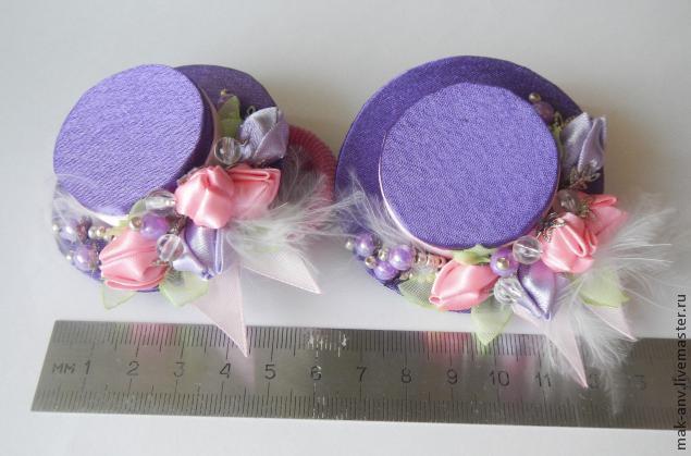Канзаши шляпки на резинках