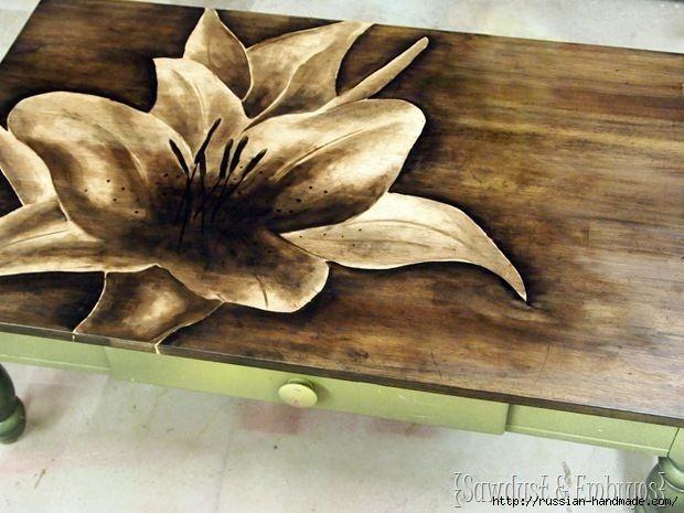 Три варианта переделки мебели. Декорирование журнального столика (1) (620x465, 159Kb)