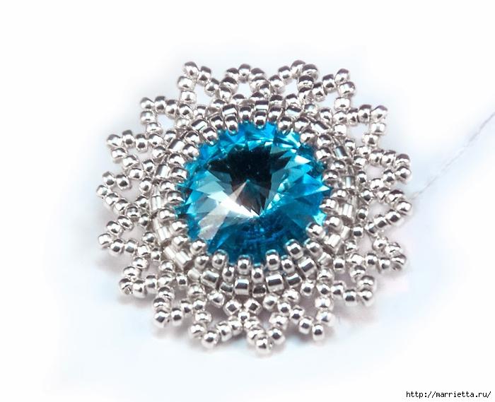 Снежинки из бисера с кристаллами Сваровски (6) (700x569, 198Kb)