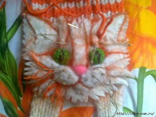 виде котика, схема вязания
