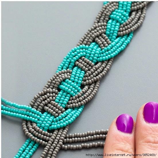 Ожерелье из бисера своими руками видео для начинающих