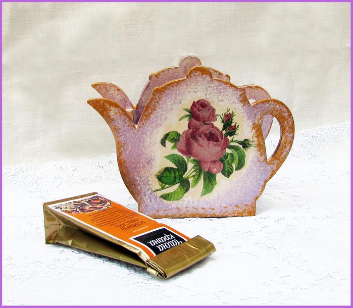 Декупаж салфетки для чайного домика