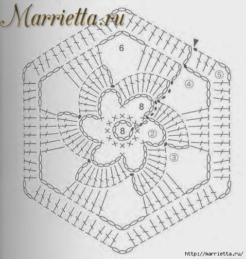Зимнее пончо из шестиугольных мотивов крючком (1) (506x532, 177Kb)